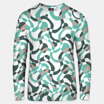 Thumbnail image of Funny bubbles print, scandinavian pattern, abstract design Unisex sweater, Live Heroes