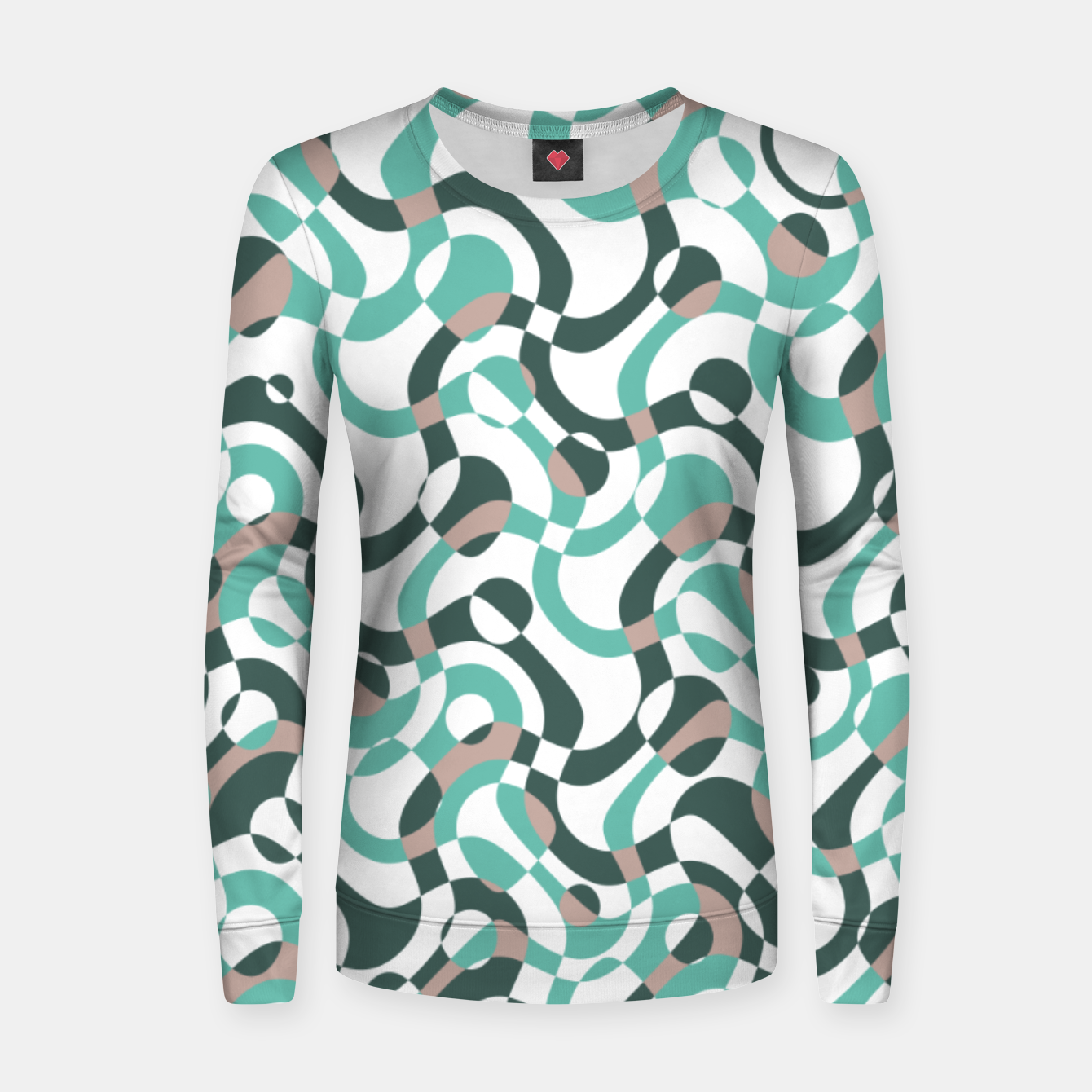 Image of Funny bubbles print, scandinavian pattern, abstract design Women sweater - Live Heroes