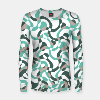 Thumbnail image of Funny bubbles print, scandinavian pattern, abstract design Women sweater, Live Heroes