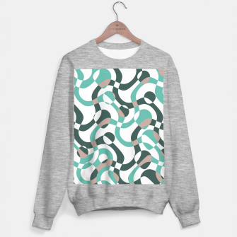 Funny bubbles print, scandinavian pattern, abstract design Sweater regular thumbnail image