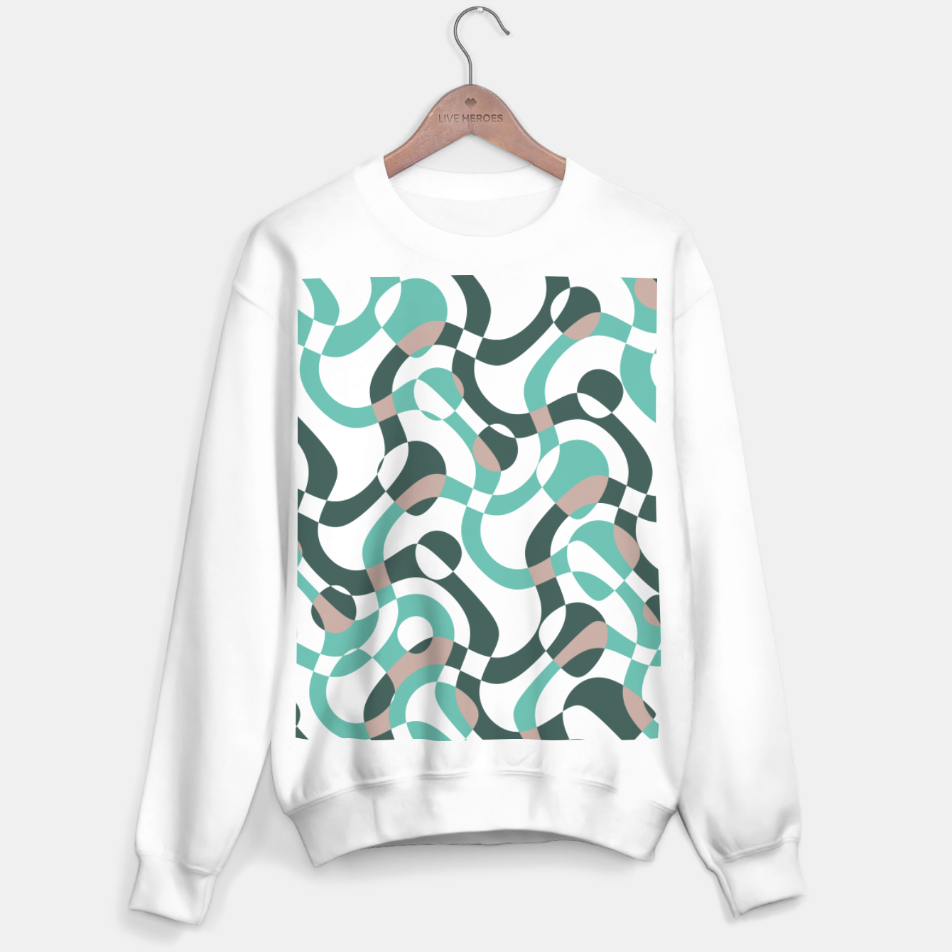Image of Funny bubbles print, scandinavian pattern, abstract design Sweater regular - Live Heroes