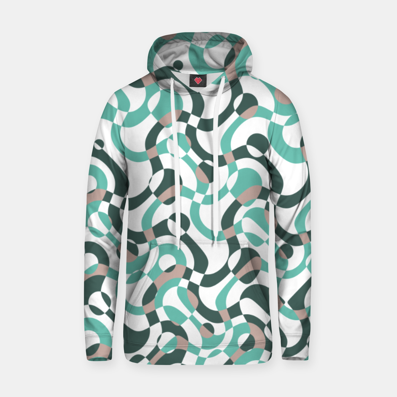 Image of Funny bubbles print, scandinavian pattern, abstract design Hoodie - Live Heroes
