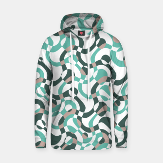 Funny bubbles print, scandinavian pattern, abstract design Hoodie thumbnail image
