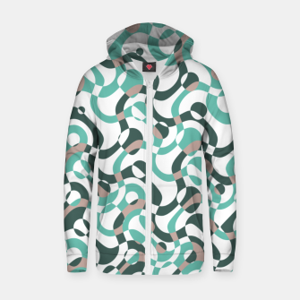 Thumbnail image of Funny bubbles print, scandinavian pattern, abstract design Zip up hoodie, Live Heroes