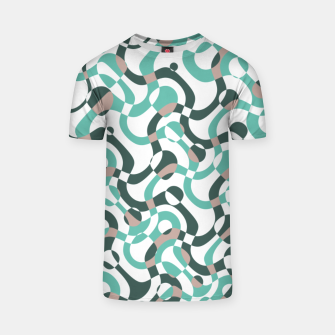 Funny bubbles print, scandinavian pattern, abstract design T-shirt thumbnail image