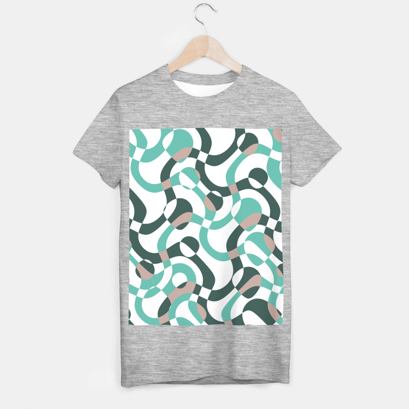 Image of Funny bubbles print, scandinavian pattern, abstract design T-shirt regular - Live Heroes