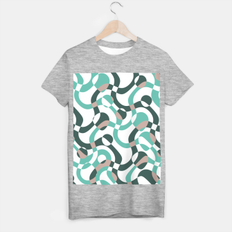 Funny bubbles print, scandinavian pattern, abstract design T-shirt regular thumbnail image