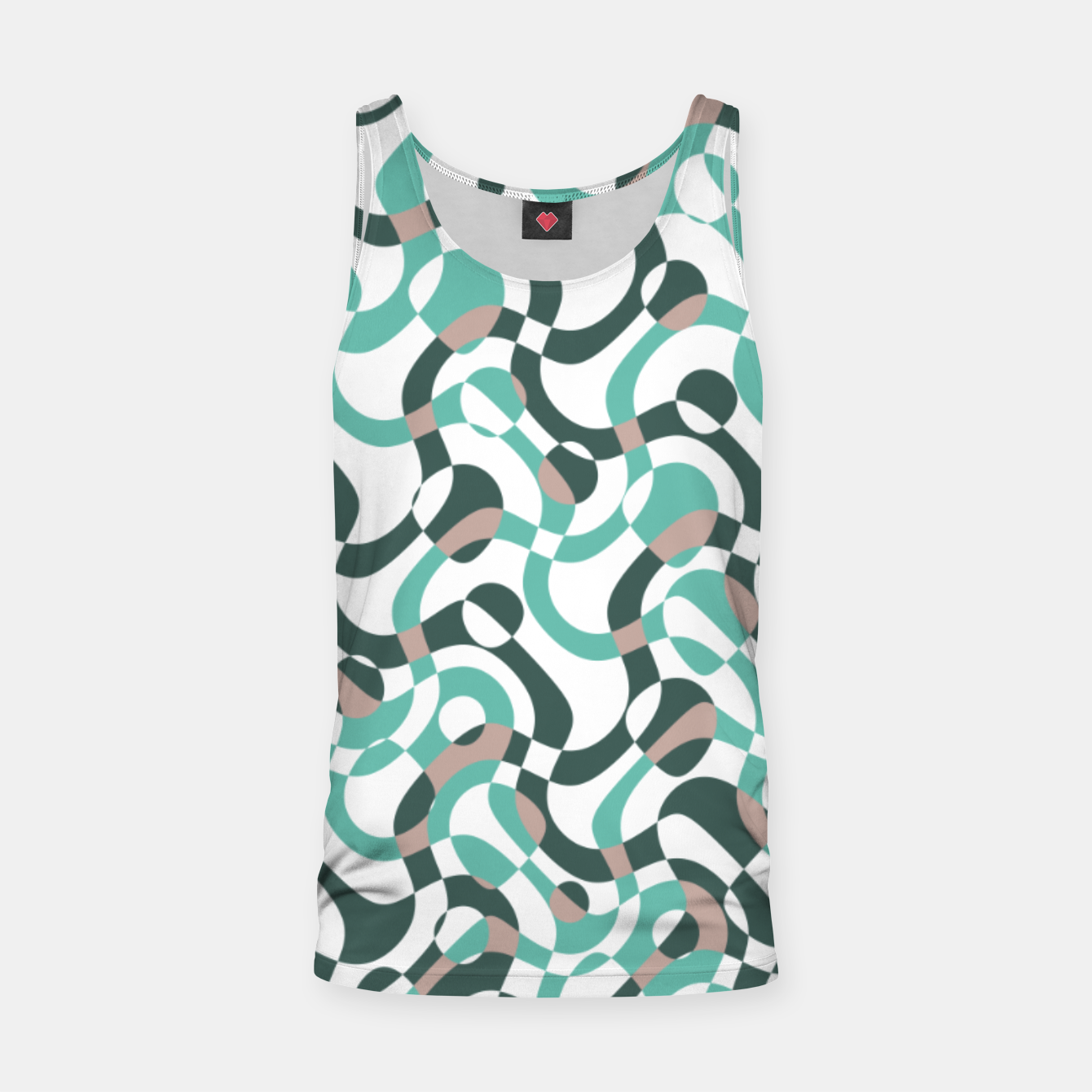Image of Funny bubbles print, scandinavian pattern, abstract design Tank Top - Live Heroes