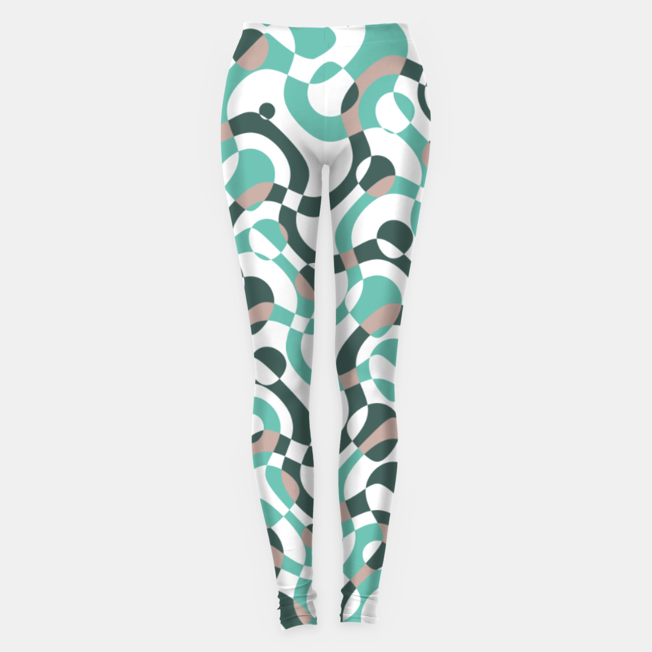 Image of Funny bubbles print, scandinavian pattern, abstract design Leggings - Live Heroes
