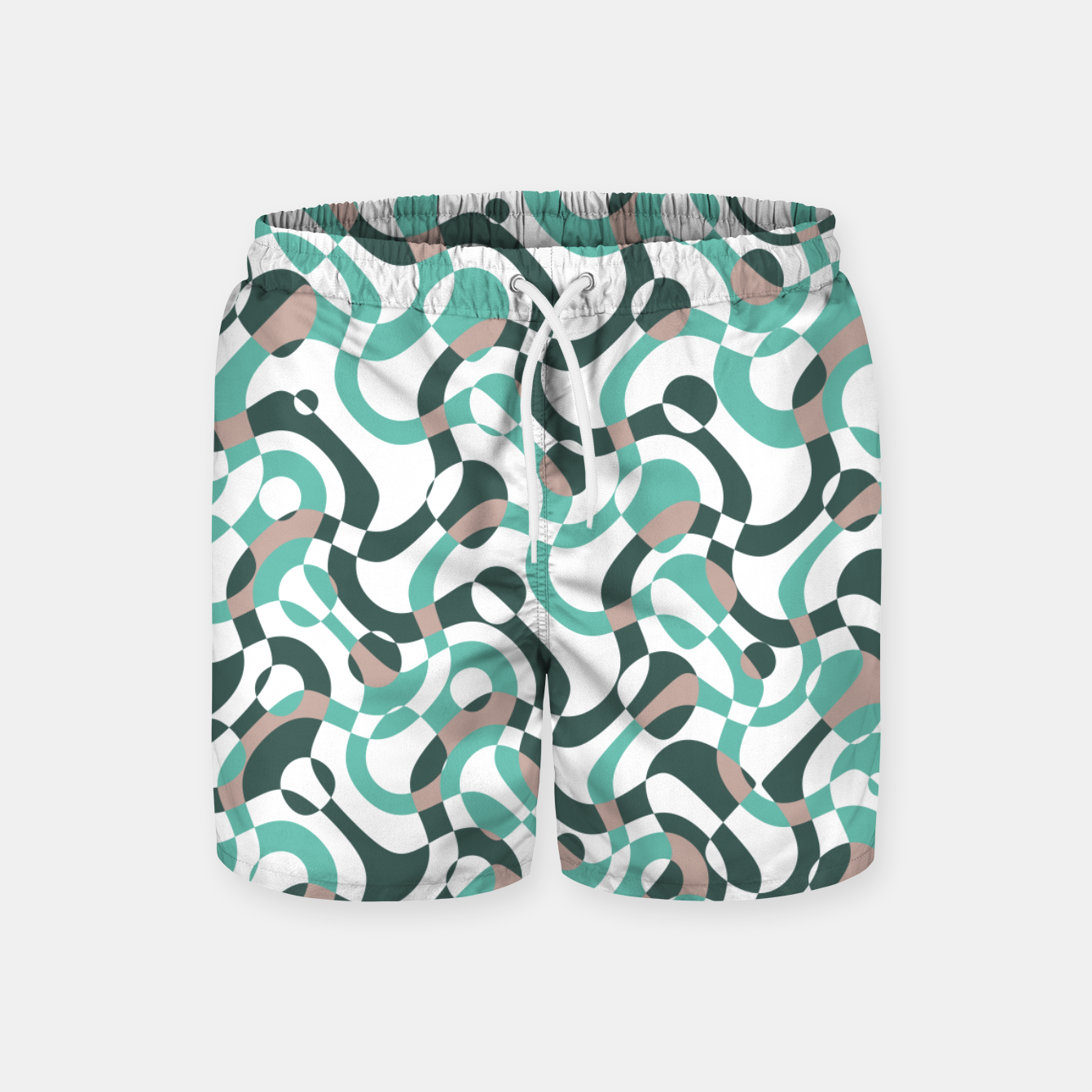 Image of Funny bubbles print, scandinavian pattern, abstract design Swim Shorts - Live Heroes