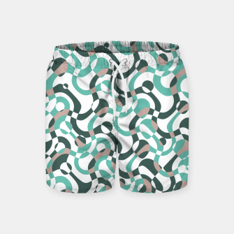 Thumbnail image of Funny bubbles print, scandinavian pattern, abstract design Swim Shorts, Live Heroes