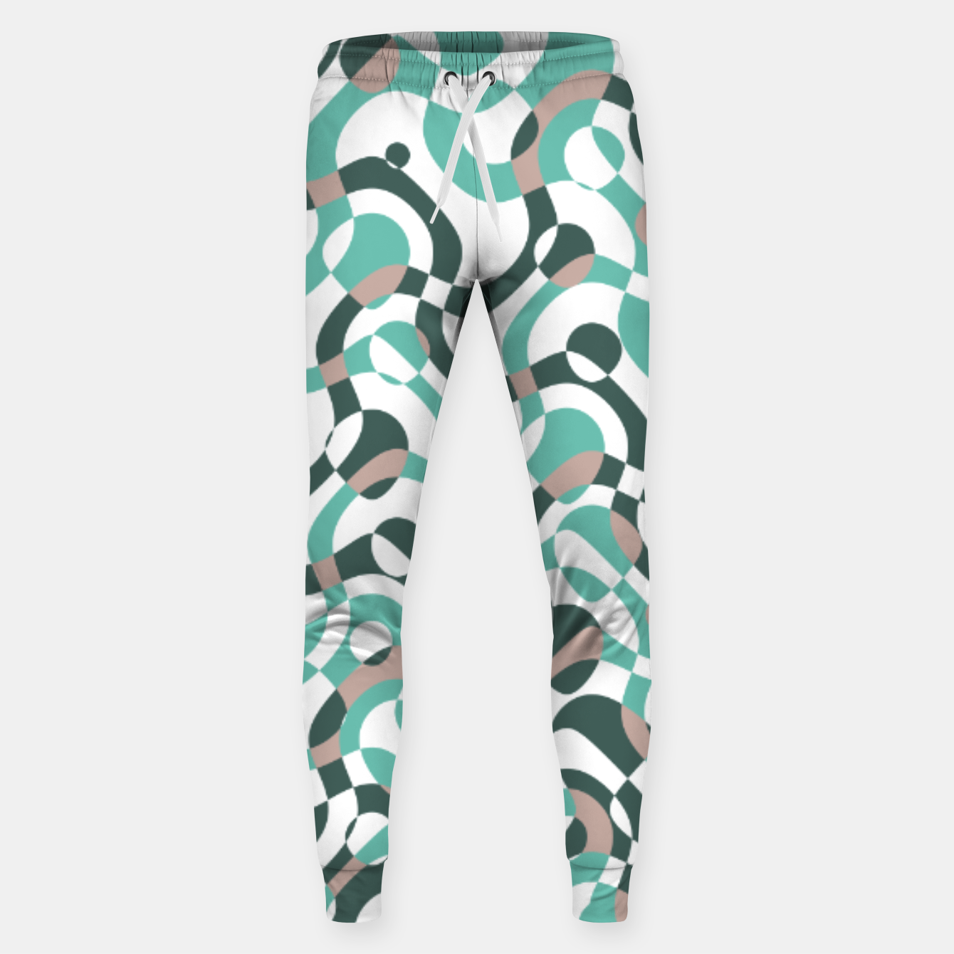 Image of Funny bubbles print, scandinavian pattern, abstract design Sweatpants - Live Heroes