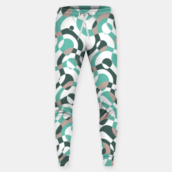 Funny bubbles print, scandinavian pattern, abstract design Sweatpants thumbnail image
