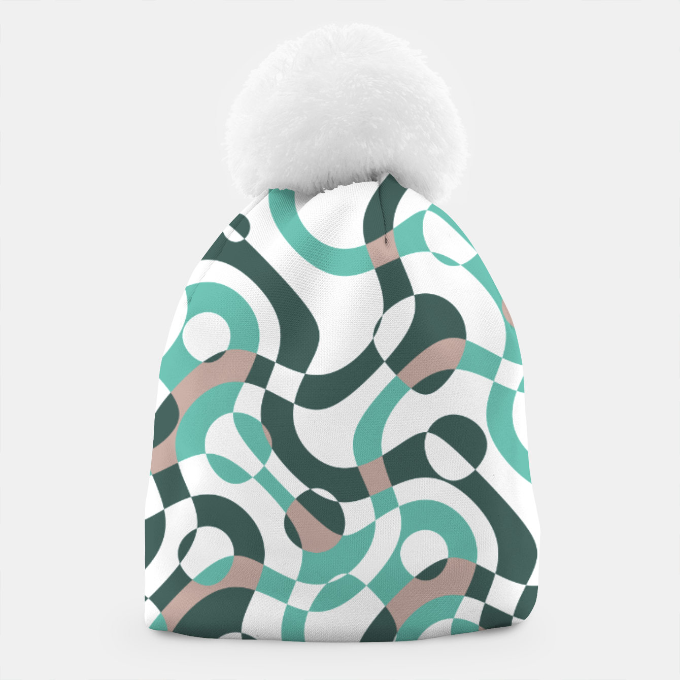 Image of Funny bubbles print, scandinavian pattern, abstract design Beanie - Live Heroes