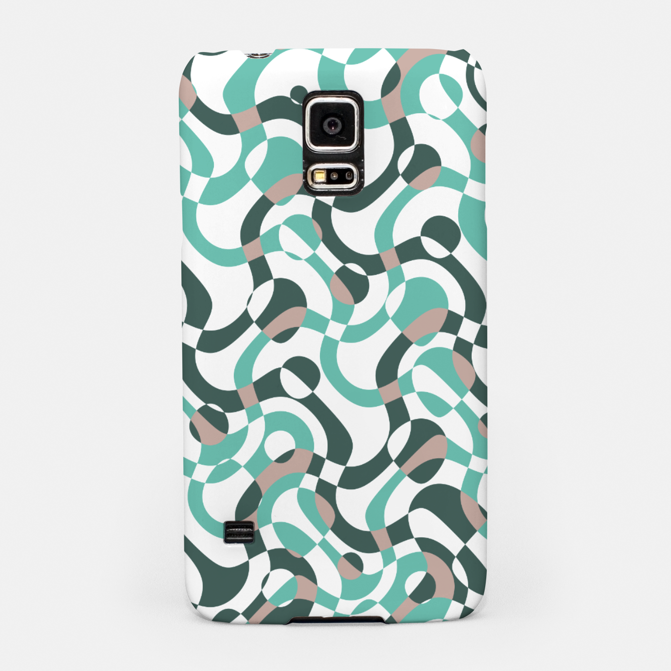 Image of Funny bubbles print, scandinavian pattern, abstract design Samsung Case - Live Heroes
