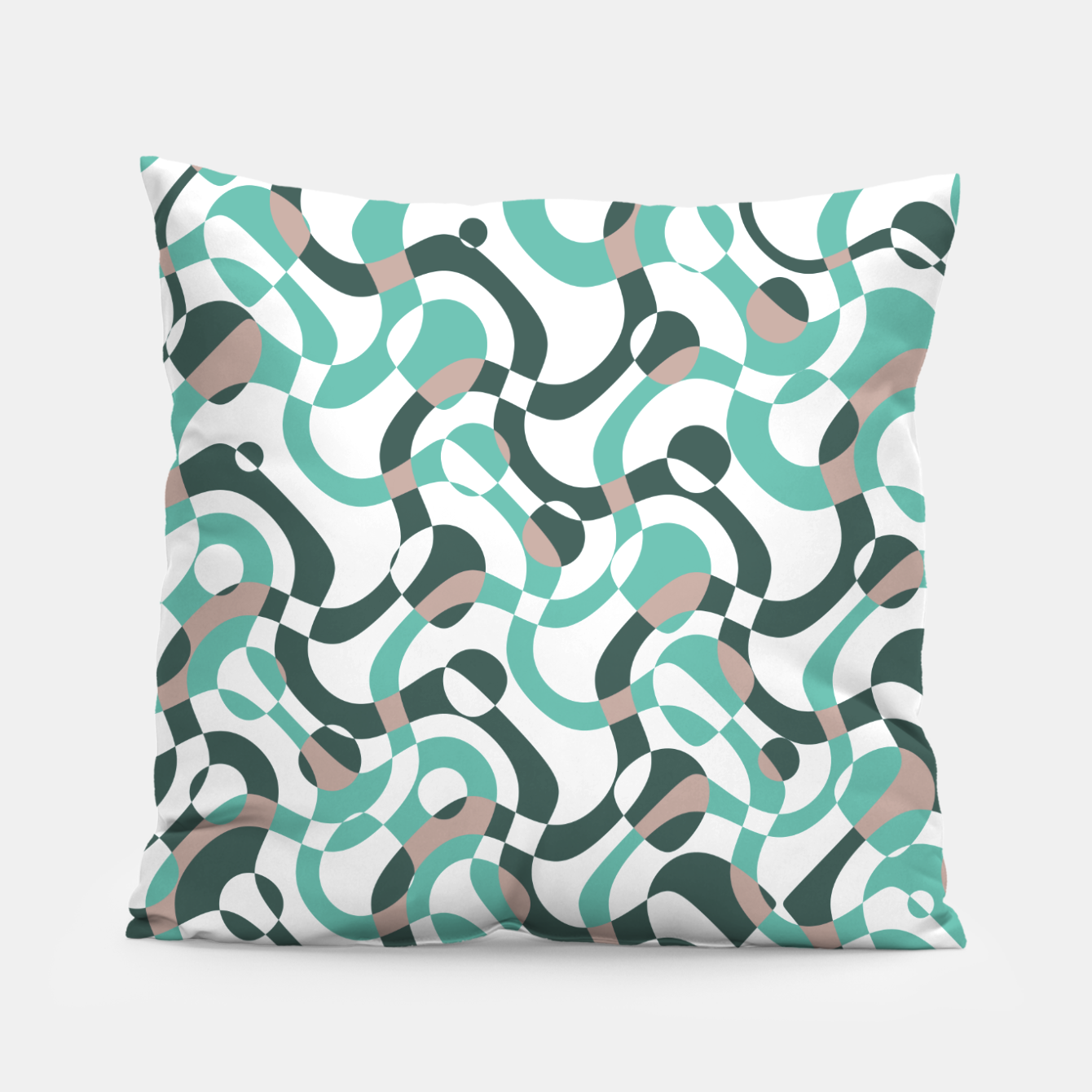 Image of Funny bubbles print, scandinavian pattern, abstract design Pillow - Live Heroes