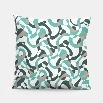 Funny bubbles print, scandinavian pattern, abstract design Pillow thumbnail image