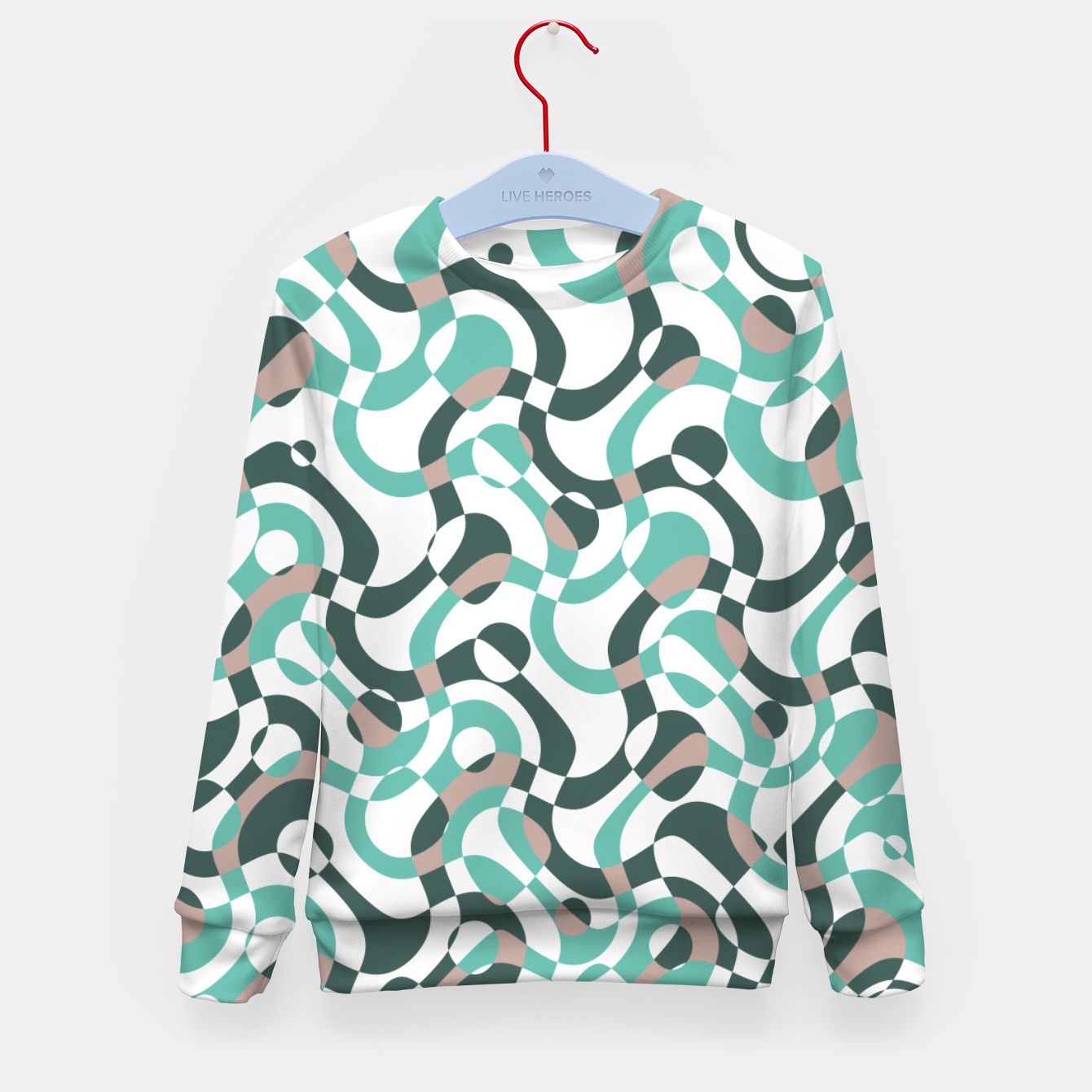 Image of Funny bubbles print, scandinavian pattern, abstract design Kid's sweater - Live Heroes