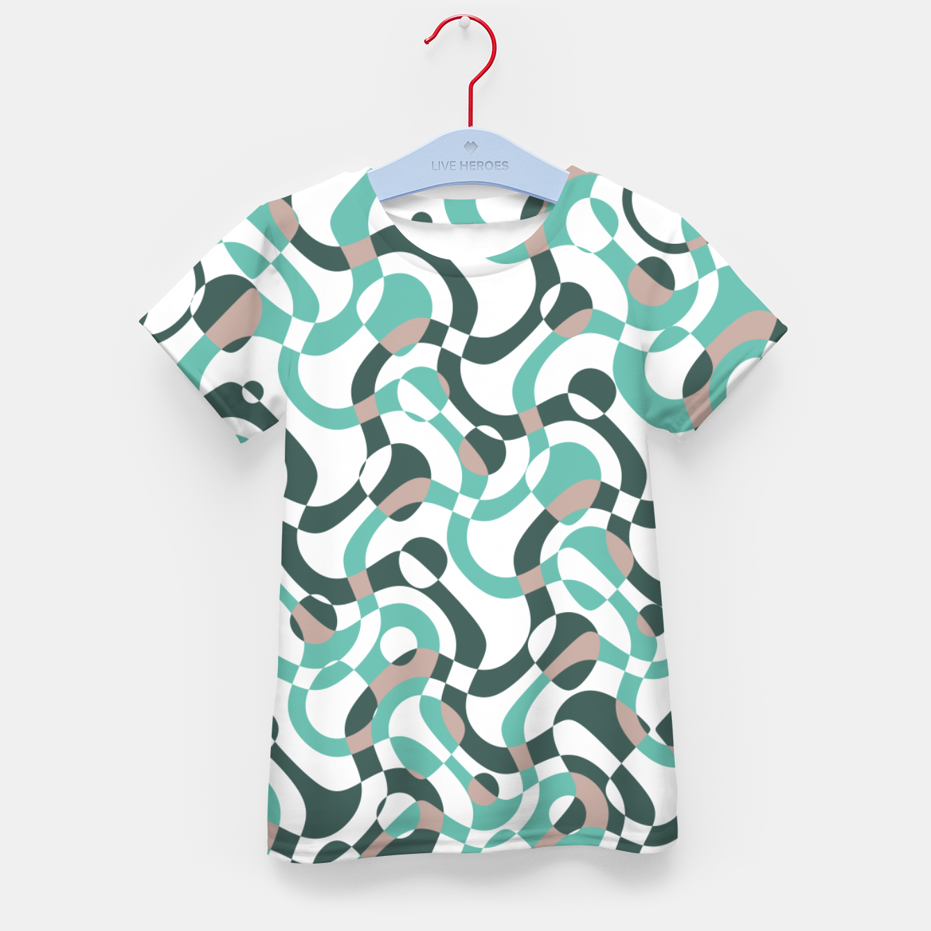 Image of Funny bubbles print, scandinavian pattern, abstract design Kid's t-shirt - Live Heroes