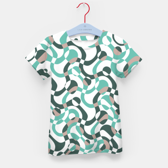 Funny bubbles print, scandinavian pattern, abstract design Kid's t-shirt thumbnail image