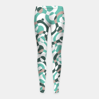 Funny bubbles print, scandinavian pattern, abstract design Girl's leggings thumbnail image