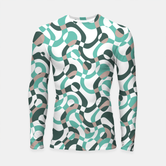 Funny bubbles print, scandinavian pattern, abstract design Longsleeve rashguard  thumbnail image