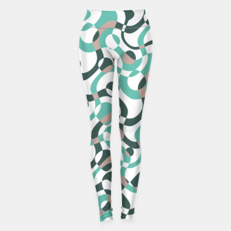Thumbnail image of Funny bubbles print, scandinavian pattern, abstract design Leggings, Live Heroes