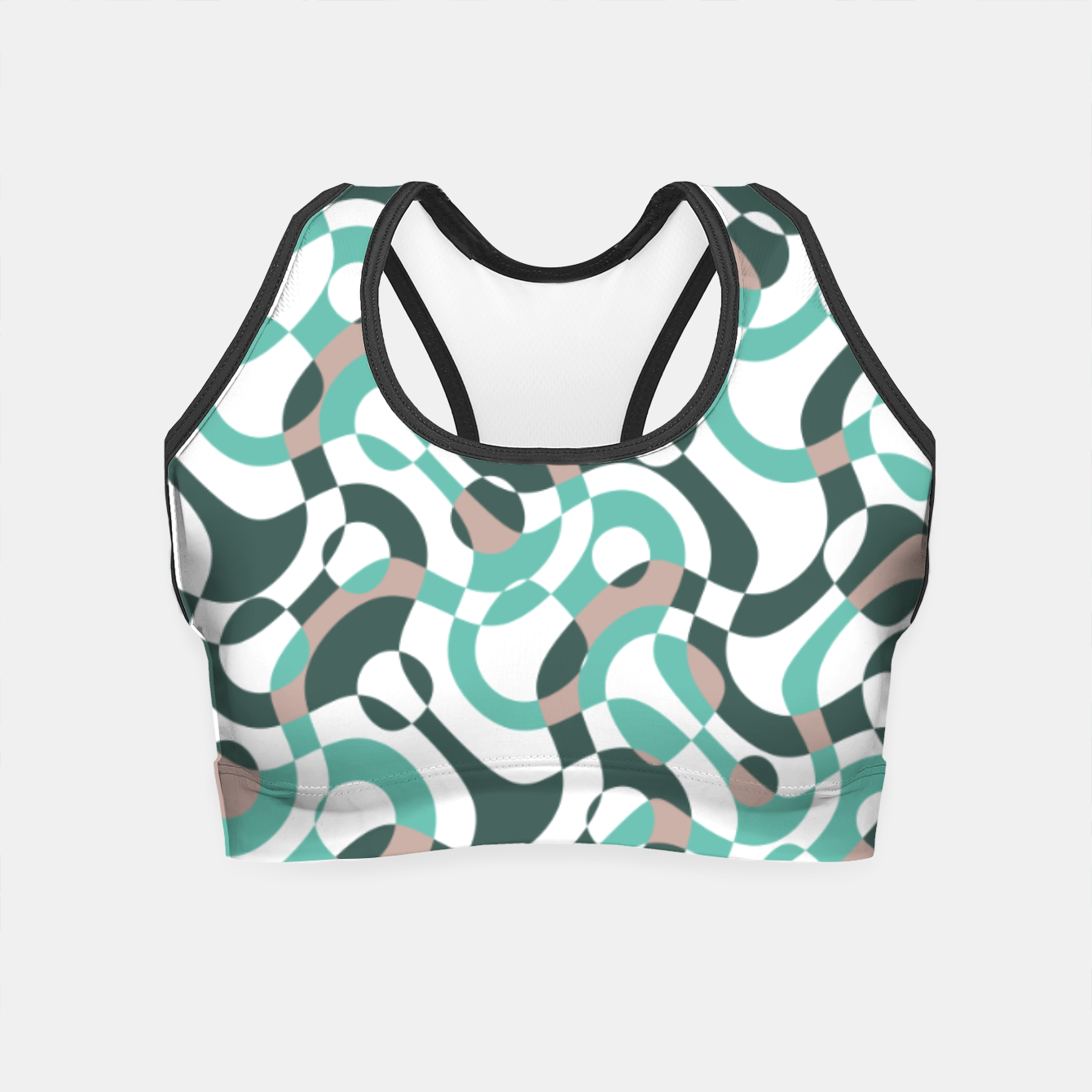 Image of Funny bubbles print, scandinavian pattern, abstract design Crop Top - Live Heroes