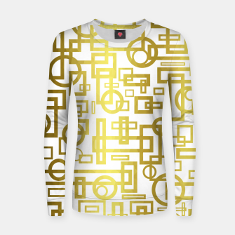 Thumbnail image of Gold Overlap Geometric Women sweater, Live Heroes