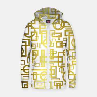 Thumbnail image of Gold Overlap Geometric Zip up hoodie, Live Heroes