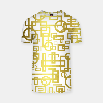 Thumbnail image of Gold Overlap Geometric T-shirt, Live Heroes