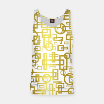 Thumbnail image of Gold Overlap Geometric Tank Top, Live Heroes