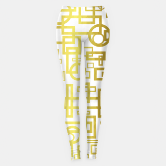 Thumbnail image of Gold Overlap Geometric Leggings, Live Heroes