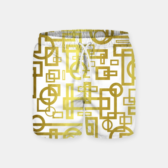 Thumbnail image of Gold Overlap Geometric Swim Shorts, Live Heroes