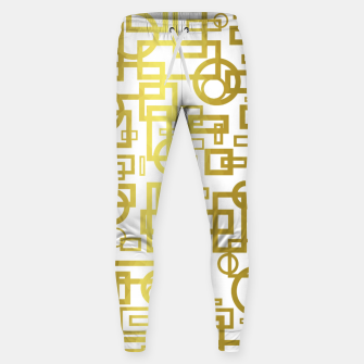 Thumbnail image of Gold Overlap Geometric Sweatpants, Live Heroes
