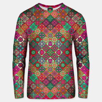 Miniatur Traditional Floral Boho Moroccan Pattern Style Unisex sweater, Live Heroes