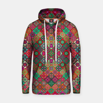 Miniatur Traditional Floral Boho Moroccan Pattern Style Hoodie, Live Heroes