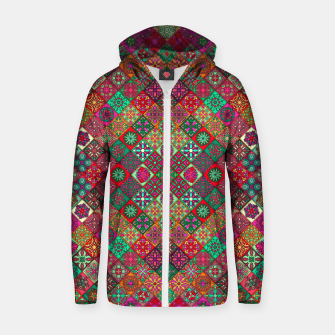 Thumbnail image of Traditional Floral Boho Moroccan Pattern Style Zip up hoodie, Live Heroes