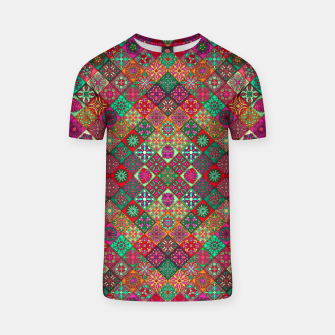 Miniatur Traditional Floral Boho Moroccan Pattern Style T-shirt, Live Heroes