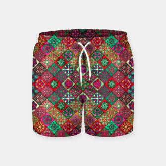 Thumbnail image of Traditional Floral Boho Moroccan Pattern Style Swim Shorts, Live Heroes