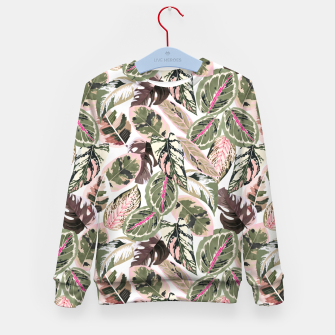 Miniaturka Botanical leaves jungle Sudadera para niños, Live Heroes