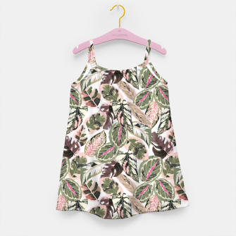 Miniaturka Botanical leaves jungle Vestido para niñas, Live Heroes