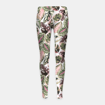 Miniaturka Botanical leaves jungle Leggings para niña, Live Heroes