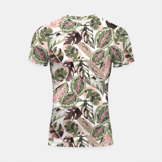 Miniaturka Botanical leaves jungle Shortsleeve rashguard, Live Heroes