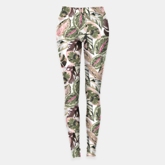 Miniaturka Botanical leaves jungle Leggings, Live Heroes