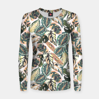 Miniaturka Botanical leaves jungle 2 Sudadera para mujeres, Live Heroes