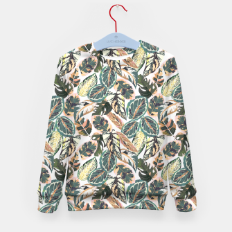 Miniaturka Botanical leaves jungle 2 Sudadera para niños, Live Heroes