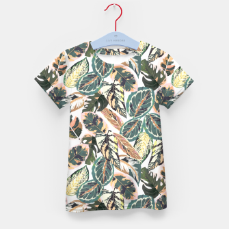 Miniaturka Botanical leaves jungle 2 Camiseta para niños, Live Heroes