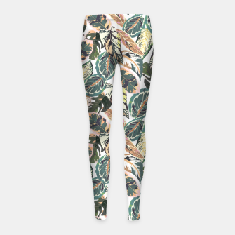 Miniaturka Botanical leaves jungle 2 Leggings para niña, Live Heroes
