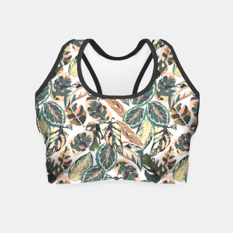 Miniaturka Botanical leaves jungle 2 Crop Top, Live Heroes